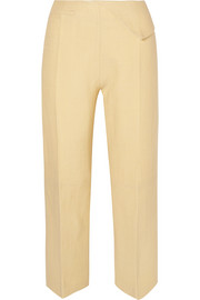 Joao cropped wool-blend straight-leg pants