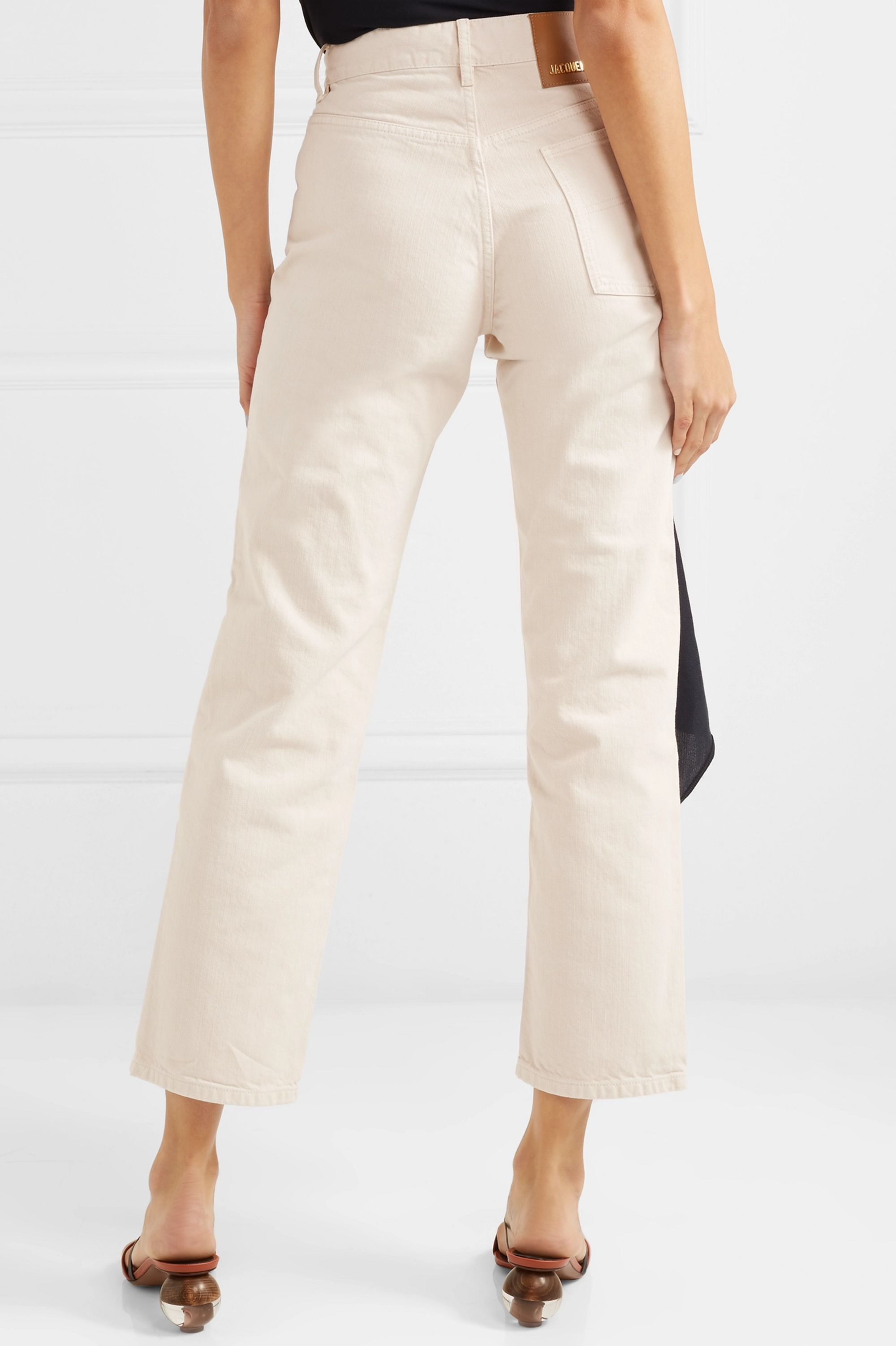 Jacquemus Cropped mid-rise straight-leg jeans