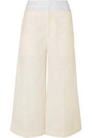 REJINA PYO Tate cotton-blend and poplin wide-leg pants