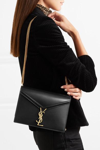 Cassandra Leather Shoulder Bag by Saint Laurent