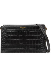 Saint Laurent Catherine croc-effect leather shoulder bag