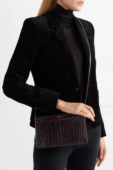 de76f06e1e Saint Laurent. Catherine croc-effect leather shoulder bag
