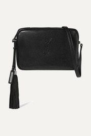 Saint Laurent Monogramme Lou medium textured-leather shoulder bag