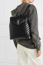 Loulou medium quilted leather backpack