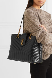 Loulou large quilted leather shoulder bag