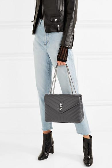 82c7cbe263 Saint Laurent. Loulou medium quilted leather shoulder bag