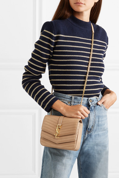 2b24a80aa8 SAINT LAURENT | Sulpice small quilted leather shoulder bag | NET-A ...