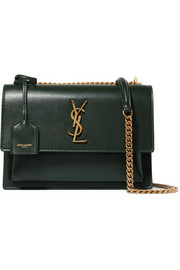Saint Laurent Sunset medium textured-leather shoulder bag