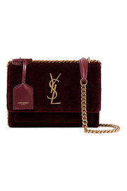 Saint Laurent Sunset small velvet shoulder bag