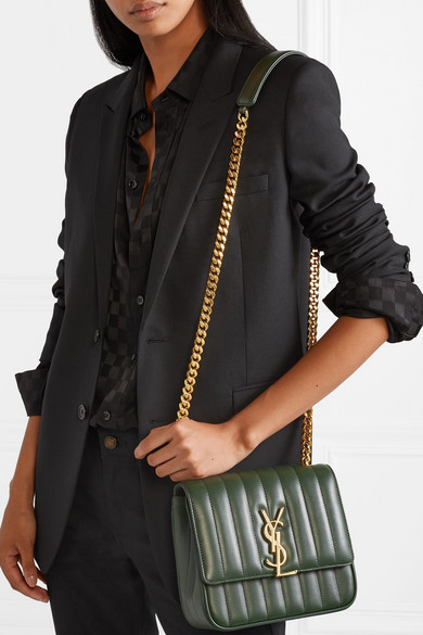 bef4ca7fcbbe0a SAINT LAURENT | Vicky medium quilted leather shoulder bag | NET-A ...