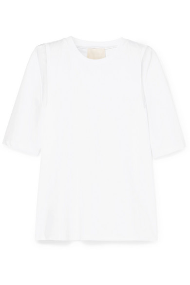 Cold Shoulder Cotton Jersey T Shirt by Dion Lee