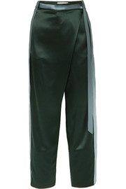 Dion Lee Striped silk-satin pants