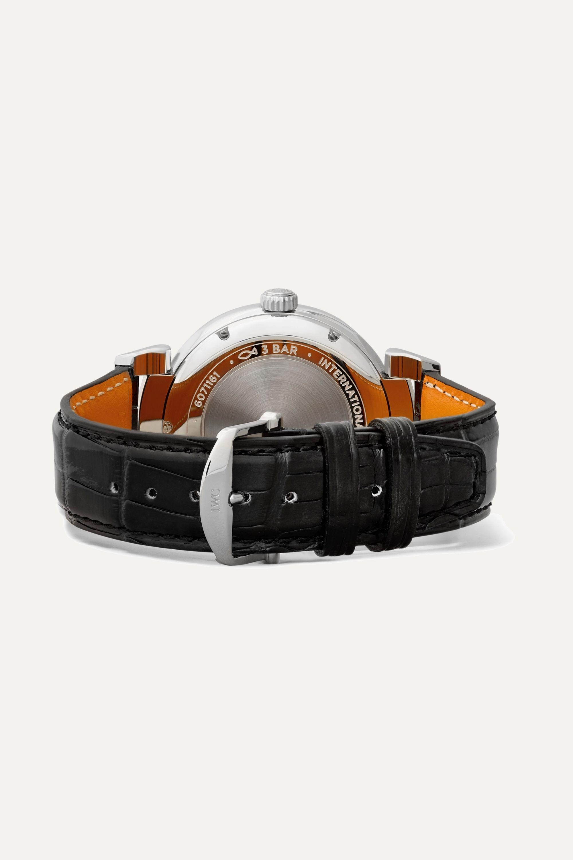 IWC SCHAFFHAUSEN Da Vinci Automatic 40mm stainless steel and alligator watch