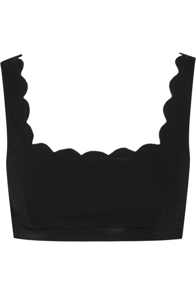 MARYSIA PALM SPRINGS SCALLOPED SWIM TOP, OLIVE, BLACK