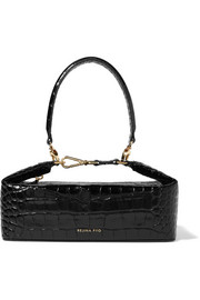 Olivia croc-effect leather tote