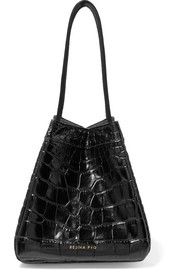 Rita croc-effect leather bucket bag