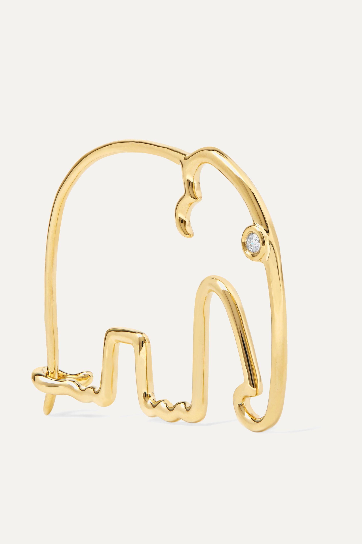 Yvonne Léon Ohrring aus 18Karat Gold mit Diamant