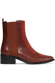 Loewe Leather and suede Chelsea boots