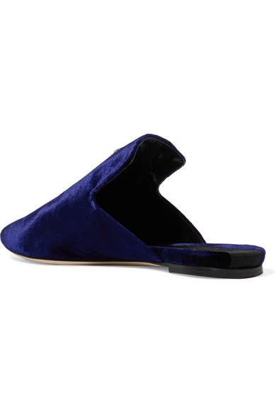 Sanayi 313 | Mini Samt Stella bestickte Slippers aus Samt Mini d3c33c