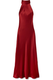 Sienna silk-satin gown
