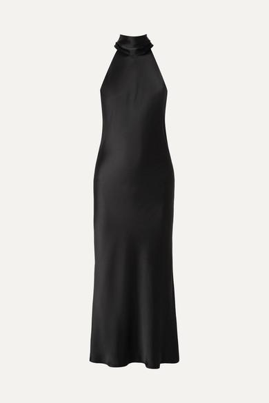 Galvan - Sienna Satin Dress - Black