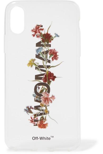 Floral-print acrylic iPhone X case