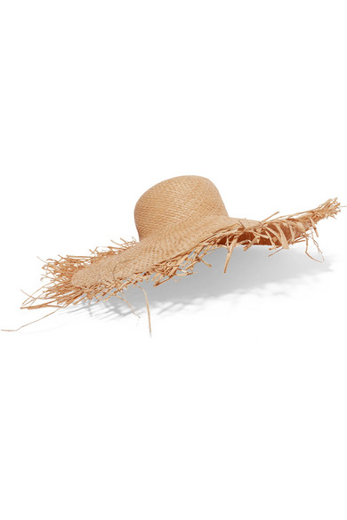 Frayed Straw Hat by Clyde