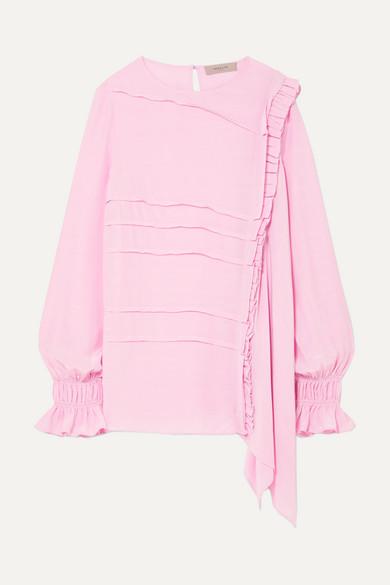 Preen Line - Liana Asymmetric Crepe De Chine Top - Baby pink