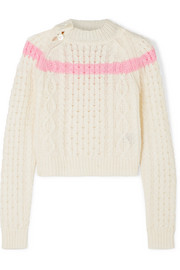 Jessica striped cable-knit sweater