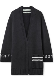 Off-White Oversized intarsia wool-blend cardigan