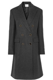 Hillier Bartley Double-breasted wool, cashmere and cotton-blend coat