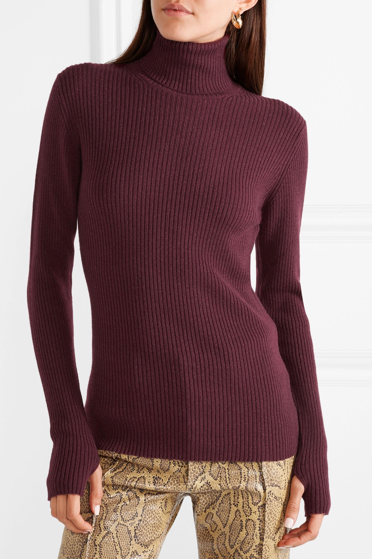 Hillier Bartley Ribbed cashmere turtleneck sweater