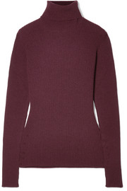 Hillier Bartley Ribbed cashmere turtleneck sweater
