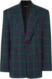 Y/PROJECT Oversized plaid twill blazer