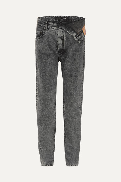2aa9f55c100 Asymmetric straight-leg jeans
