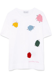 Mira Mikati Appliquéd cotton-jersey T-shirt