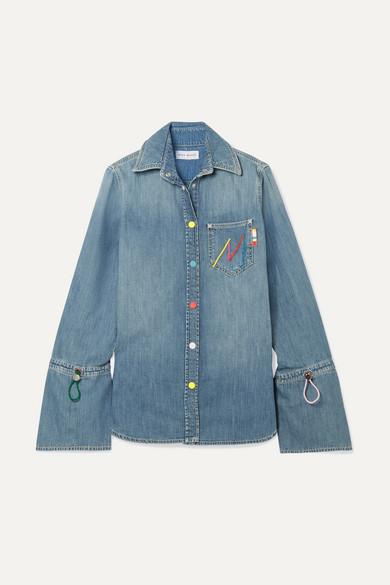 Mira Mikati - Embroidered Denim Shirt - Indigo