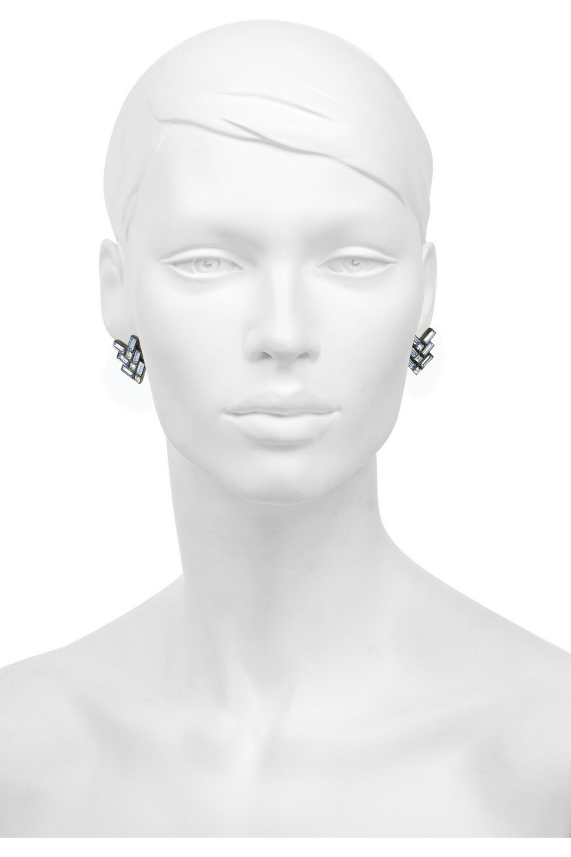 Giles & Brother Gunmetal-plated Swarovski crystal earrings