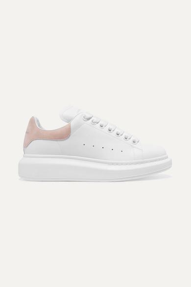 Alexander McQueen | Sneakers aus Leder Sohle mit Velourslederbesatz und überstehender Sohle Leder ffba54