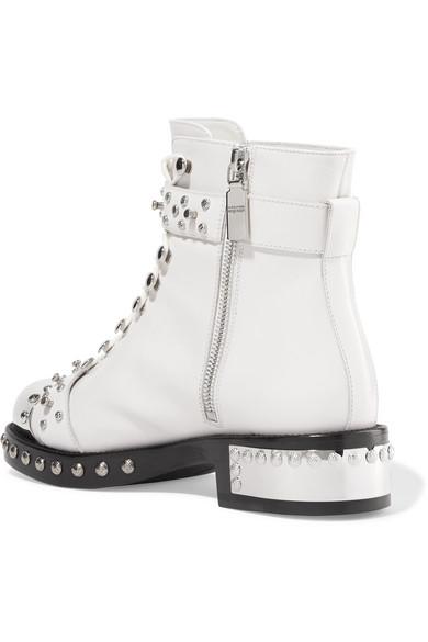 Alexander McQueen Boots | Hobnail nietenverzierte Ankle Boots McQueen aus Leder 34ffa3