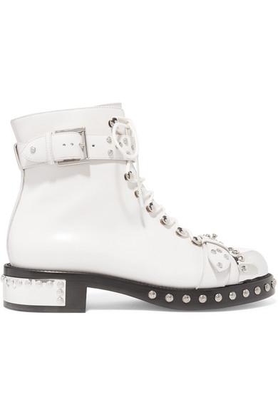 Alexander Ankle McQueen | Hobnail nietenverzierte Ankle Alexander Boots aus Leder 54e10f