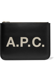 A.P.C. Atelier de Production et de Création Morgane printed faux leather pouch