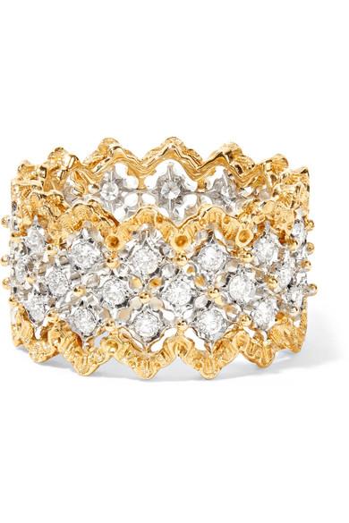 Ramage Eternelle 18-karat White And Yellow Gold Diamond Ring - 54 Buccellati rGgss