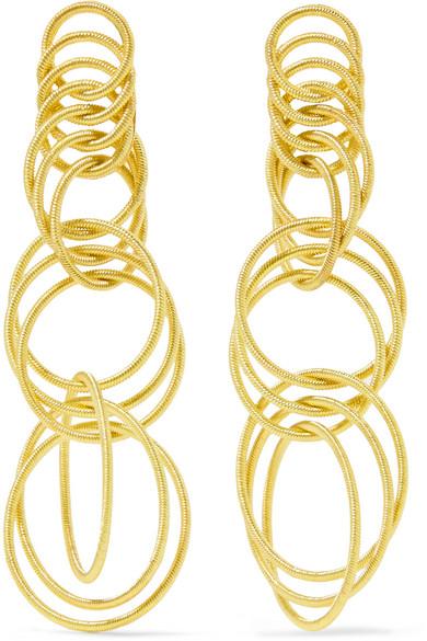 Hawaii Waikiki 18-karat Yellow And White Gold Earrings - one size Buccellati 9ENDrA8