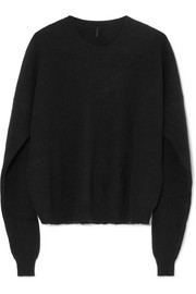Unravel Project Oversized ribbed wool and cashmere-blend sweater