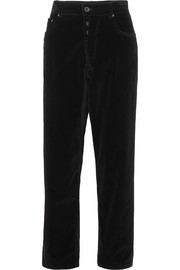 Unravel Project Baggy Boy cropped cotton-blend velvet wide-leg pants