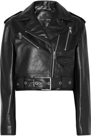 Proenza Schouler Cropped leather biker jacket
