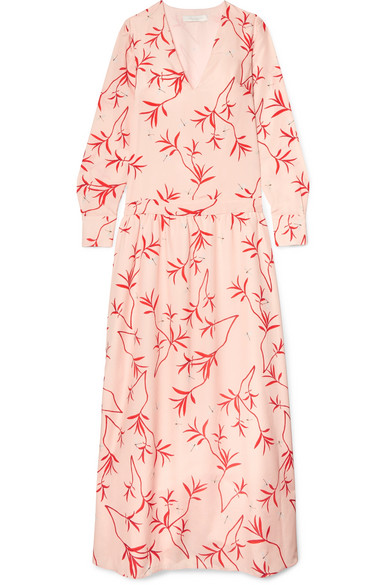 Anya Printed Crepe De Chine Maxi Dress by Borgo De Nor