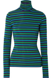 Proenza Schouler PSWL striped stretch-cotton jersey turtleneck sweater