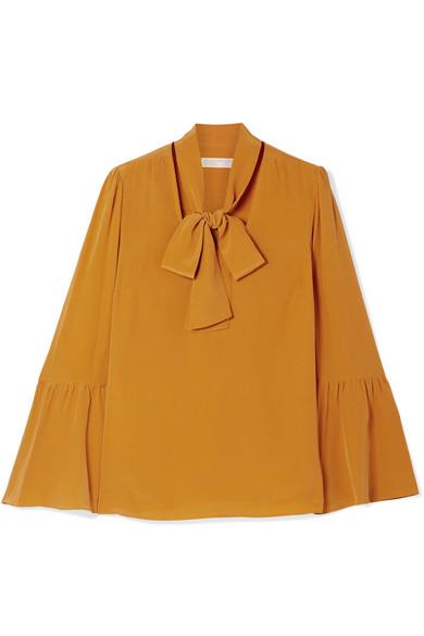 5cb5775ecef7 MICHAEL Michael Kors   Pussy-bow silk crepe de chine blouse    NET-A-PORTER.COM